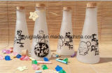 350ml jus Boissons ronde Décoration bouteille en verre de lait avec liège