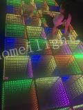 Homei 3D LED abismo Espejo Mosaico de Panel de pista de baile