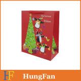 Kundenspezifisches niedrige Kosten-frohe Weihnacht-Geschenk-Papierbeutel/Einkaufstasche