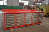 Het Kabinet van het Hulpmiddel van de Garage van de workshop met de Handvatten van het Roestvrij staal