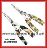 Pinces d'acier inoxydable ; La Pinces-Pêche de bouche incurvée par attrait multi de pêche de fonction aborde Fg-1006b/1006A