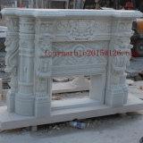 Белый мраморный камин для крытого украшения (SY-MF001)