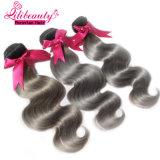 Venda por atacado de cabelo peruano Ombre Colored Remy Hair Weft