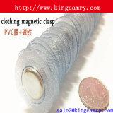 Фермуар PVC одежд незримый магнитный/водоустойчивый магнит одежды