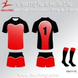 Healong中国の安い価格の服装ギヤ高品質の昇華男子ラグビーのジャージ