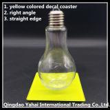 4mm de color amarillo de posavasos de cristal