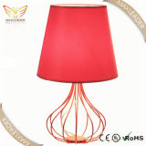 Antikes Red Fabric Table Lamp für Schlafzimmer Decoration (MT9219)