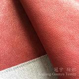 Tessuto del cuoio del poliestere del panno di Chammy della pelle scamosciata con il trattamento della stagnola di oro