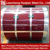 Precio competitivo Color PPGI bobinas de acero para techos hoja