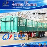 De Semi Aanhangwagen van uitstekende kwaliteit van de Staaf van het Pakhuis van de Staak van de Omheining van het Vervoer van het Vee van 3 As 60t (LAT9405CLXY)
