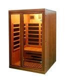 Zaal van de Sauna van de Ceder van de Sauna Infared van de Sauna van Joda de Verre Rode