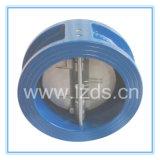 Tipo válvula da bolacha do disco do dobro do ferro de molde de verificação da borboleta