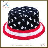 カスタム米国旗の印刷されたBoonieのバケツの帽子