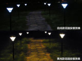 16LED - Lumière solaire de jardin d'interpolation lumière blanche/jaune