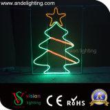 Lumières décoratives de motif montées par Pôle d'étoile de rue de Noël