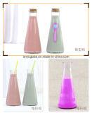 350ml Round Beverage Decoration Juice Frasco de vidro de leite com cortiça