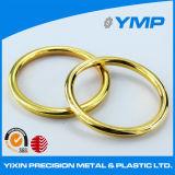 Torno CNC mecanizado de piezas de aluminio anodizado con oro