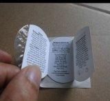 Стикер буклета стикера разнослоистого стикера стикера Фиксировать--Формы печатание полного цвета складывая