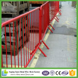 barreira Pedestrian móvel galvanizada mergulhada quente de 2.1m*1.1m para a construção