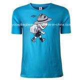 100% Algodão Moda Men's Round Neck Tee Shirt, T Shirt