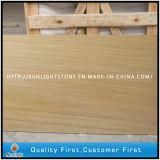 Het natuurlijke Geslepen Chinese Gele Houten Zandsteen van de Korrel