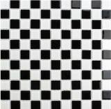 El clásico Blanco y Negro mezclados Mosaico de vidrio para decoración