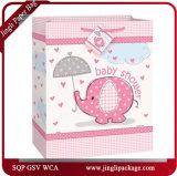 Sacs en cadeau pour bébé rouge Sac en papier d'art Sacs d'achat