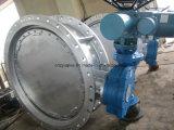 Válvula de borboleta elétrica do aço de carbono do GOST de Py16 Dn400