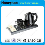 Hotel Stainless Steel Kettle con Welcome Tray Set