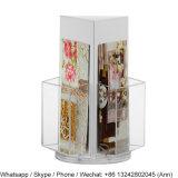 3 стороны поворачивая акриловый стеллаж для выставки товаров кассеты и газеты стоящие/держатель брошюры
