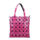 2018 Японии с геометрическим складывание одной сумки через плечо моды крупные алмазные решетке сшивка мешки (ГБ#6X6)