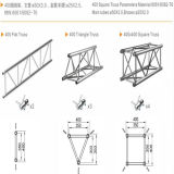 Bundel Truss/Truss System/Lighting Truss/Exhibition Truss/Truss Booth/Truss Stand/Truss Project/Spigot van de Bundel Tuss/Stage Truss/Roof System/Stage van het aluminium de Vlakke