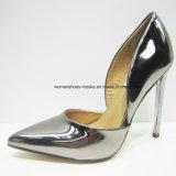 Cinco colores nuevos estilo de las mujeres de moda de tacón alto señora vestido zapatos con punta de dedo del pie