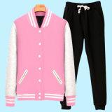280 GSM CVC женщин 80/20 бейсбольные куртки и спортивные брюки