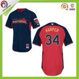 La sublimation tout logo personnalisé des hommes a augmenté de Softball Baseball Jersey Chemises