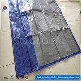 Blaues silbernes HDPE beschichteter wasserdichter Heu-Plane-Deckel