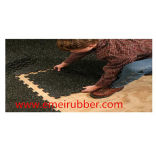 Verrouillage avec plancher de caoutchouc mouchetures de couleur