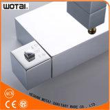 Misturador de banho termostático de alça única em forma de bronze quadrado