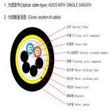 24 canalisations de fibre optique du faisceau ADSS ainsi que le câble d'alimentation