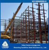 Magazzino prefabbricato del blocco per grafici della struttura d'acciaio di disegno della costruzione