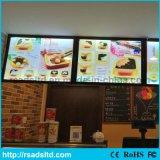 レストランのためのアクリルの広告LEDメニューライトボックスのSignboard