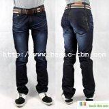 Los hombres de clase alta blue jeans de mezclilla de moda (W10122534)