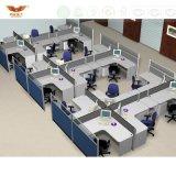 증명서를 준 Fsc 숲은 SGS 새로운 디자인 현대 6개의 시트 사무실 분할 워크 스테이션 (P01)에 의하여 똑바로 승인했다