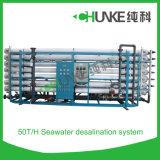De Installatie van de Behandeling van het Water van het Systeem van de Omgekeerde Osmose van het Zeewater van Chunke 50t/H