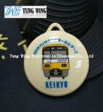 Желтый держатель Keypress шины, Keyring с изготовленный на заказ звуком, логосом печатание передачи тепла