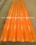 カラー金属の屋根瓦か多彩なZincalumeの鋼鉄屋根ふきシート