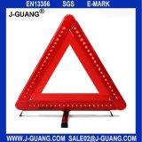 Стойка треугольника безопасности проезжей части красная пластичная непредвиденный предупреждающий (JG-A-02)