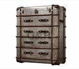 Metallaluminiumdeckel-Seiten-Antike-Schrank mit Fächern