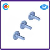 En acier au carbone galvanisé 4.8/8.8/10.9/M6 Fixation plastique personnalisé rondes/Vis à tête plate