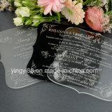 Gravés personnalisés C6 de l'acrylique les invitations de mariage
